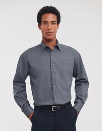 Men`s Long Sleeve Classic Polycotton Poplin Shirt
